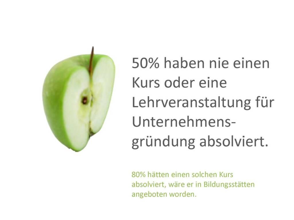 Austrian Startup Report 2013 - Kurse, © mit freundlicher Genehmigung von Speed Invest (26.11.2013)