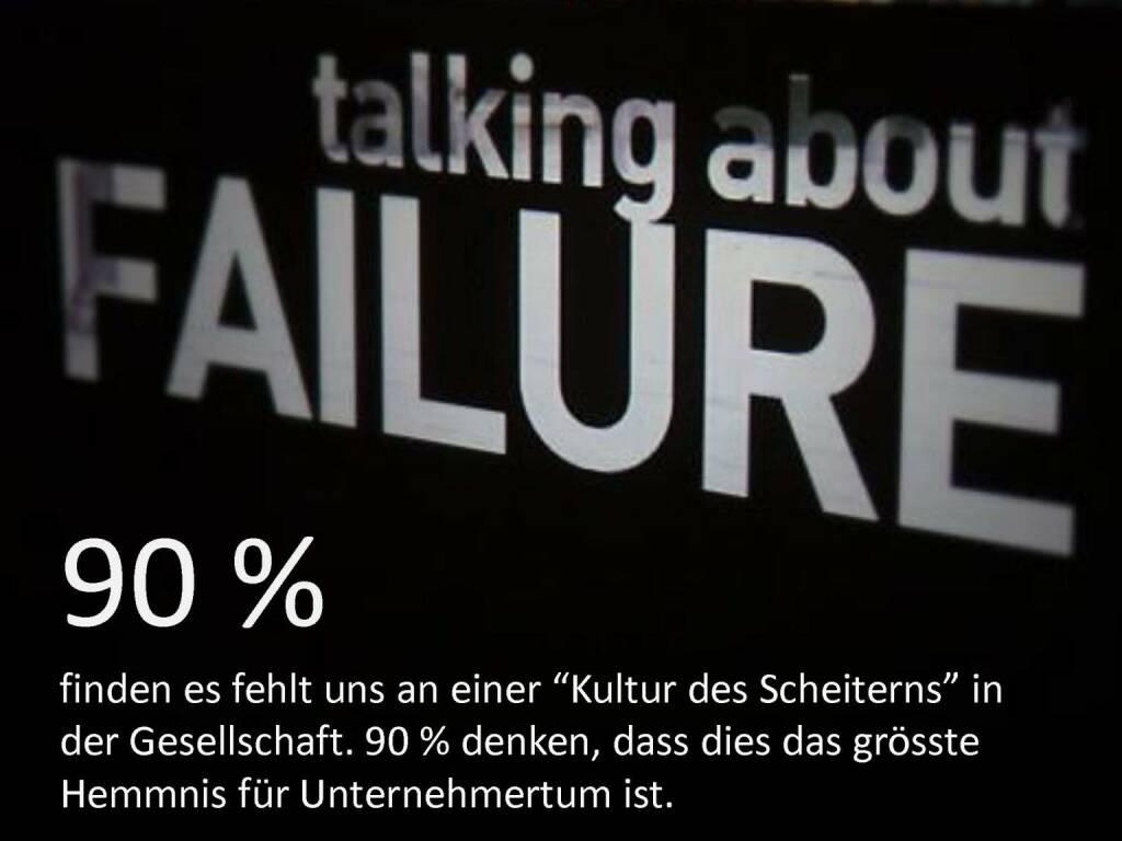 Austrian Startup Report 2013 - Kultur des Scheiterns, © mit freundlicher Genehmigung von Speed Invest (26.11.2013)