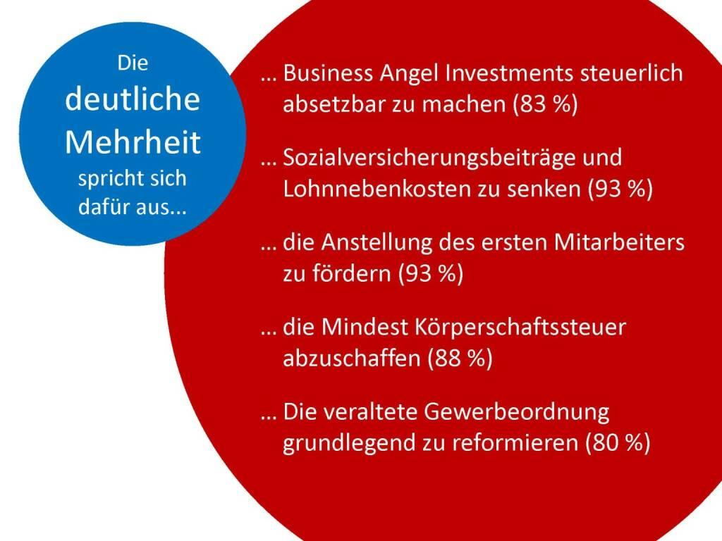 Austrian Startup Report 2013 - Wünsche, © mit freundlicher Genehmigung von Speed Invest (26.11.2013)