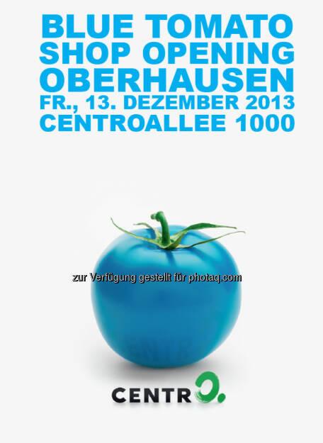Blue Tomato, Plakat Oberhausen, © Blue Tomato (27.11.2013)
