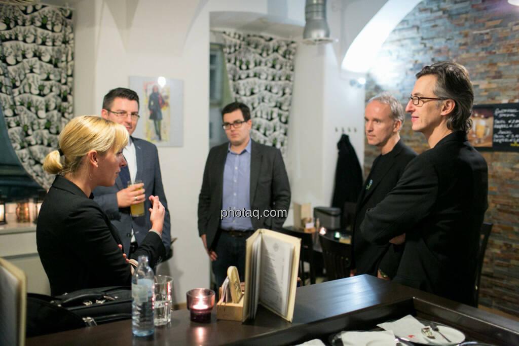 Elisabeth Wagerer (S Immo), Bosko Skoko (S Immo), Klaus Fahrnberger (bet-at-home.com), Christian Drastil, Josef Chladek, © bsn/Martina Draper (28.11.2013)