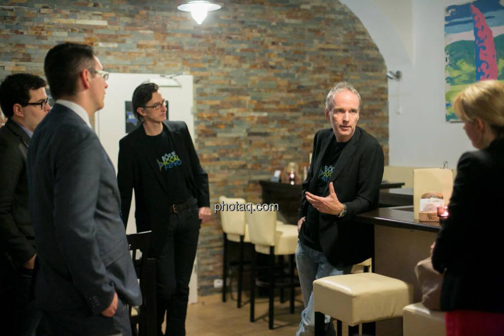 Klaus Fahrnberger (bet-at-home.com), Bosko Skoko (S Immo), Josef Chladek, Christian Drastil, Elisabeth Wagerer (S Immo), © bsn/Martina Draper (28.11.2013)
