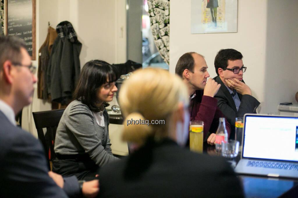 Bosko Skoko (S Immo), Alina Costache (Odyssey PR, London), Bernhard Dörflinger (TeleTrader), Klaus Fahrnberger (bet-at-home.com) , © bsn/Martina Draper (28.11.2013)