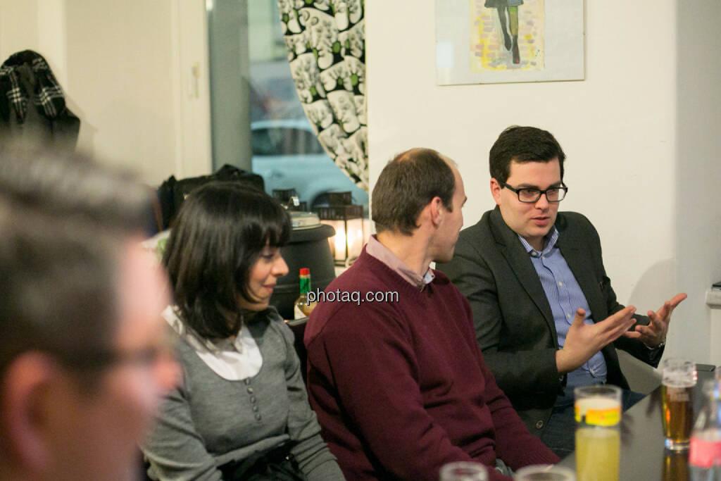 Alina Costache (Odyssey PR, London), Bernhard Dörflinger (TeleTrader), Klaus Fahrnberger (bet-at-home.com) , © bsn/Martina Draper (28.11.2013)