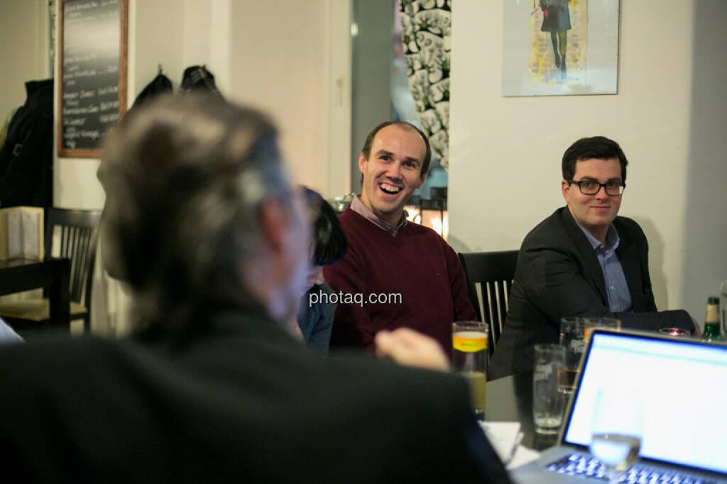 Bernhard Dörflinger (TeleTrader), Klaus Fahrnberger (bet-at-home.com) , © bsn/Martina Draper (28.11.2013)