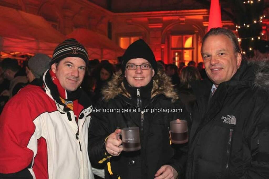 Martin Belz (Koch Bank), Andreas Feuerstein (S Immo), © Wiener Börse AG (29.11.2013)