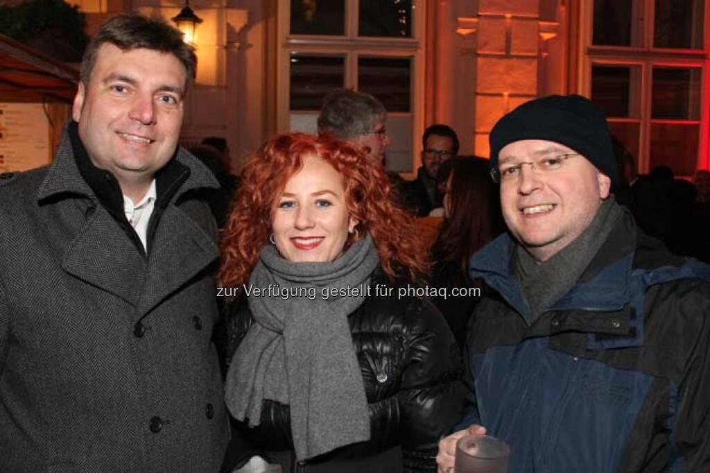 Thomas Dietrich (RCB), Roman Klima, Erwin Hof (Wiener Börse), © Wiener Börse AG (29.11.2013)