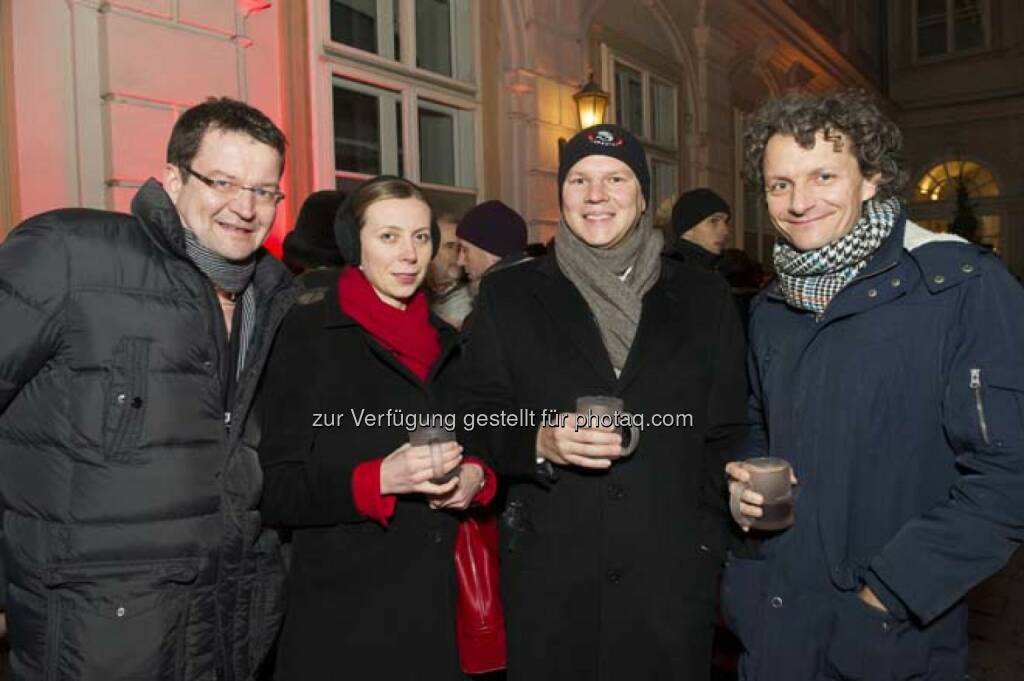 Roman Rafeiner (Erste Group), Martin Michalky (RCB), Andreas Posavac (Ipreo), © Wiener Börse AG (29.11.2013)