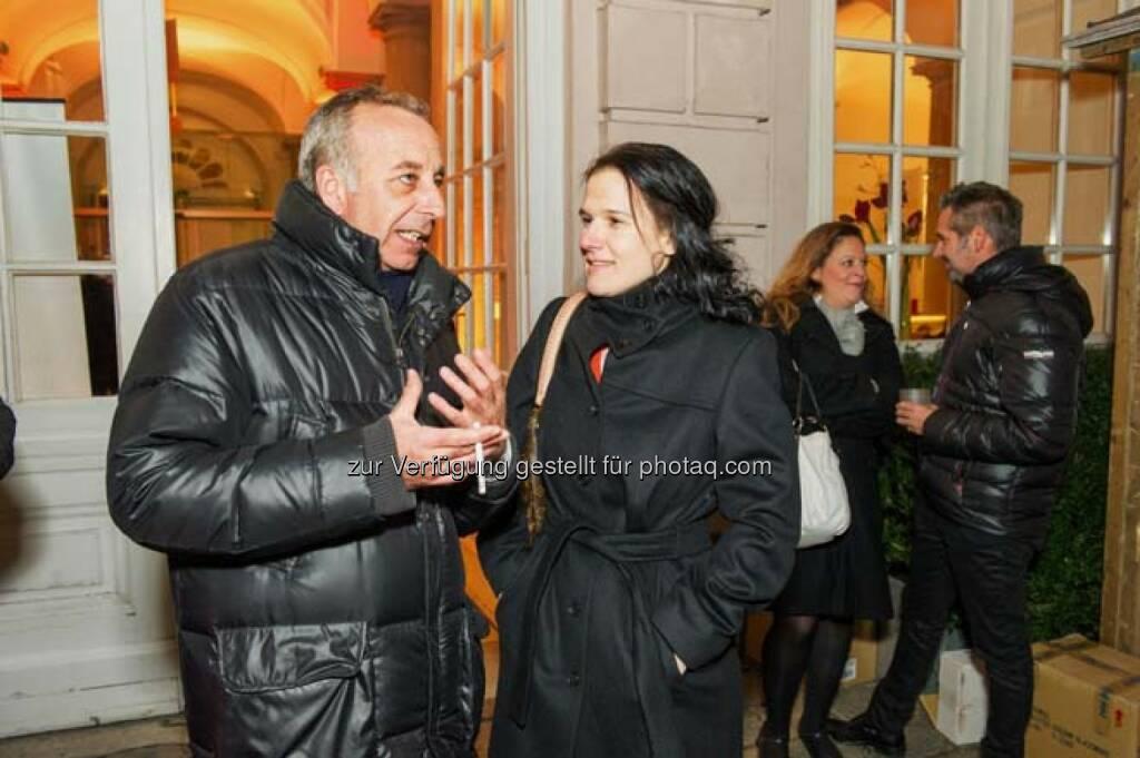 Randolf Fochler (RHI), Bettina Schragl (Immofinanz), © Wiener Börse AG (29.11.2013)