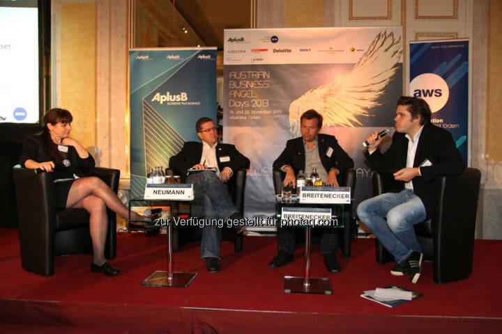Peter Neumann (Head of Styria Digital Holding), Markus Breitenecker (Geschäftsführer, ProSieben Sat1 Puls4), Julian Breitenecker (CEO Media4Equity Invest),