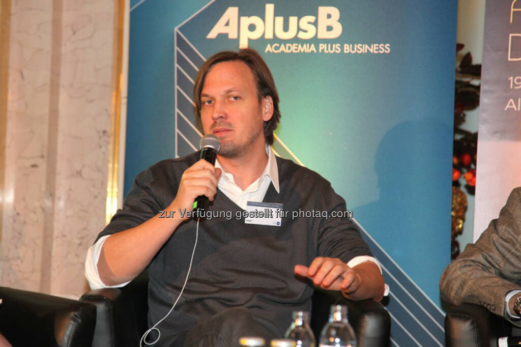 Markus Wagner (Founder and CEO of i5invest GmbH), © Austria Wirtschaftsservice (01.12.2013)