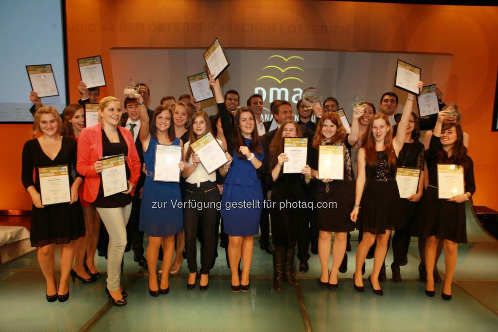 Jubel und Freude bei den Nominierten, bei den Finalisten, bei den Preisträgern und natürlich ganz besonders bei den Siegern der pma awards 2013 (Bild: pma/Elke Mayr) (02.12.2013)