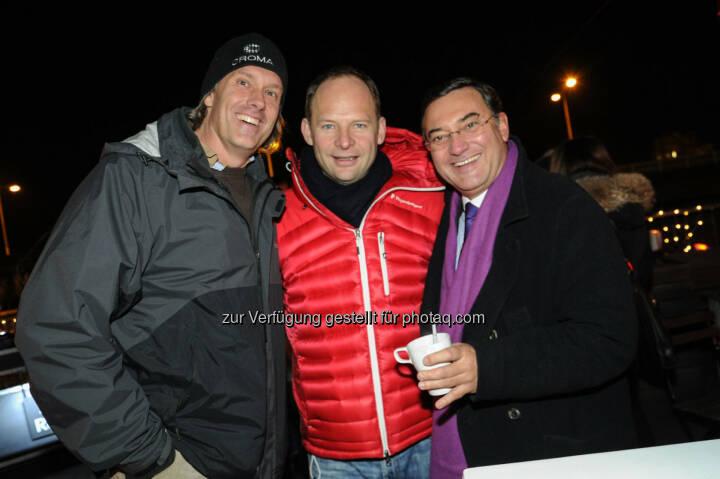 Oliver Stamm, Alexander Knechtsberger, Heinz Stiastny (Bild: DocLX Holding)