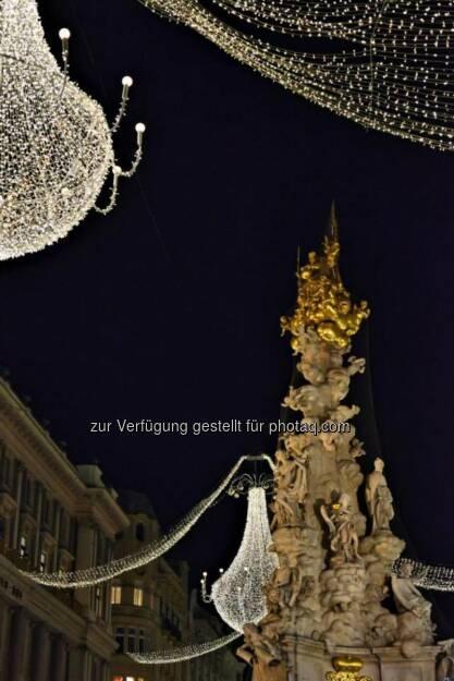Pestsäule, Graben, Wien, Lichter im Advent, www.fotomoldan.at, © Bernd Moldan (07.12.2013)