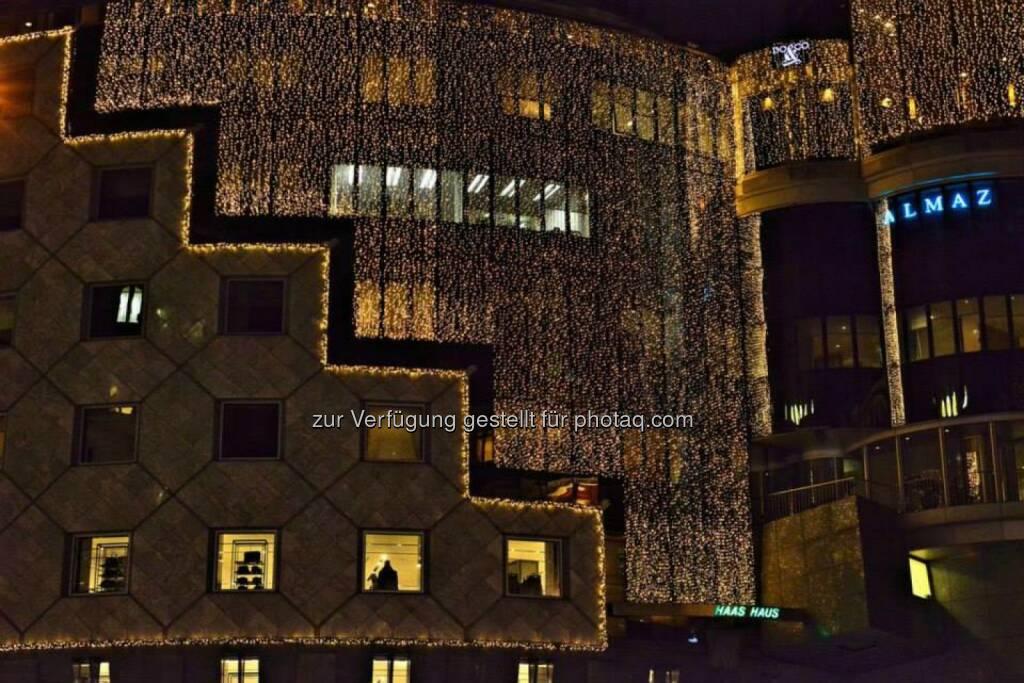 Haas Haus, Wien, Lichter im Advent, www.fotomoldan.at, © Bernd Moldan (07.12.2013)