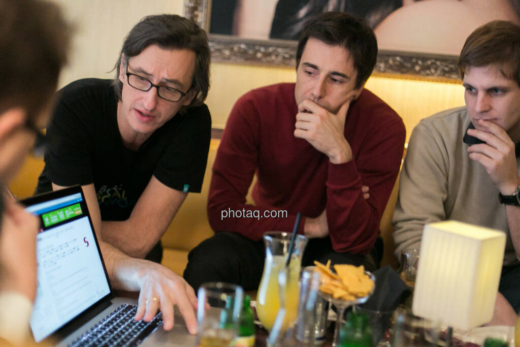 Josef Chladek, Igor Huic (Donau Invest), Chris Mattura (Investment Banking / Venture Capital), © bsn/Martina Draper (12.12.2013)