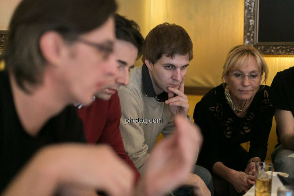 Josef Chladek, Igor Huic (Donau Invest), Chris Mattura (Investment Banking / Venture Capital), Isabella de Krassny (Donau Invest), © bsn/Martina Draper (12.12.2013)