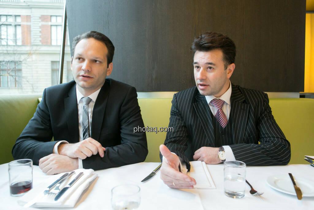 Julian Schillinger (Privé), Miro Mitev (iQ-Foxx), © finanzmarktfoto.at/Martina Draper (12.12.2013)