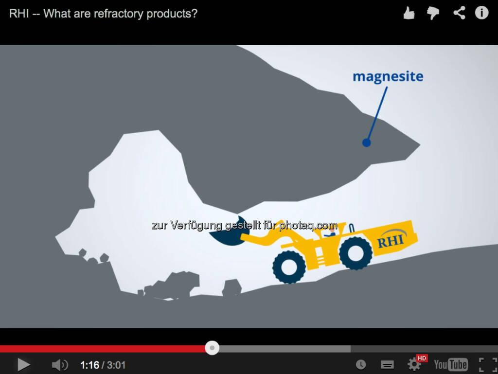 Magnesit http://www.youtube.com/watch?v=FCgmTZ3UGSY, © RHI (14.12.2013)