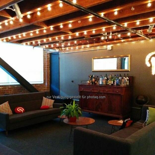 Pinterest's legal team set up a Mad Men-style bar. Nice!, © Elisabeth Oberndorfer (17.12.2013)