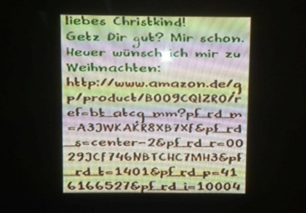 Brief an das Christkind 2013 (by Stermann / Grissemann) (18.12.2013)