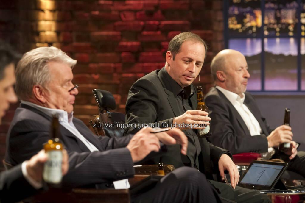 Michael Altrichter, Hans-Peter Haselsteiner, Daniel Mattes, Hansi Hansmann mit Nixe Bier   © Gerry Frank Photography 2013 (18.12.2013)