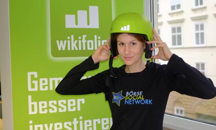 Christina Öhler, wikifolio, im Börse Social Network-Shirt