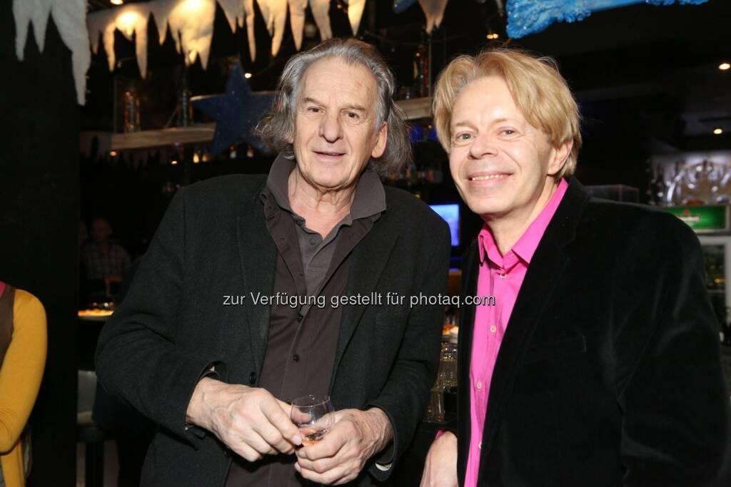 Erich Schleyer, wien live-Herausgeber Helmut Schneider , © leisure.at/Ludwig Schedl (21.12.2013)