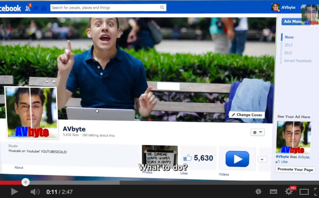 Facebook-Musical , Video https://www.youtube.com/watch?v=Y2JhpNbe2Io, © AVbyte (22.12.2013)