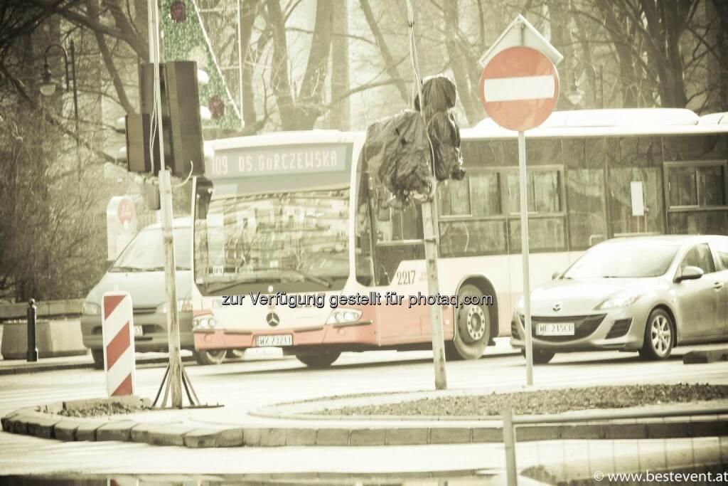 Warschau Bus, © Herbert Gmoser (25.12.2013)