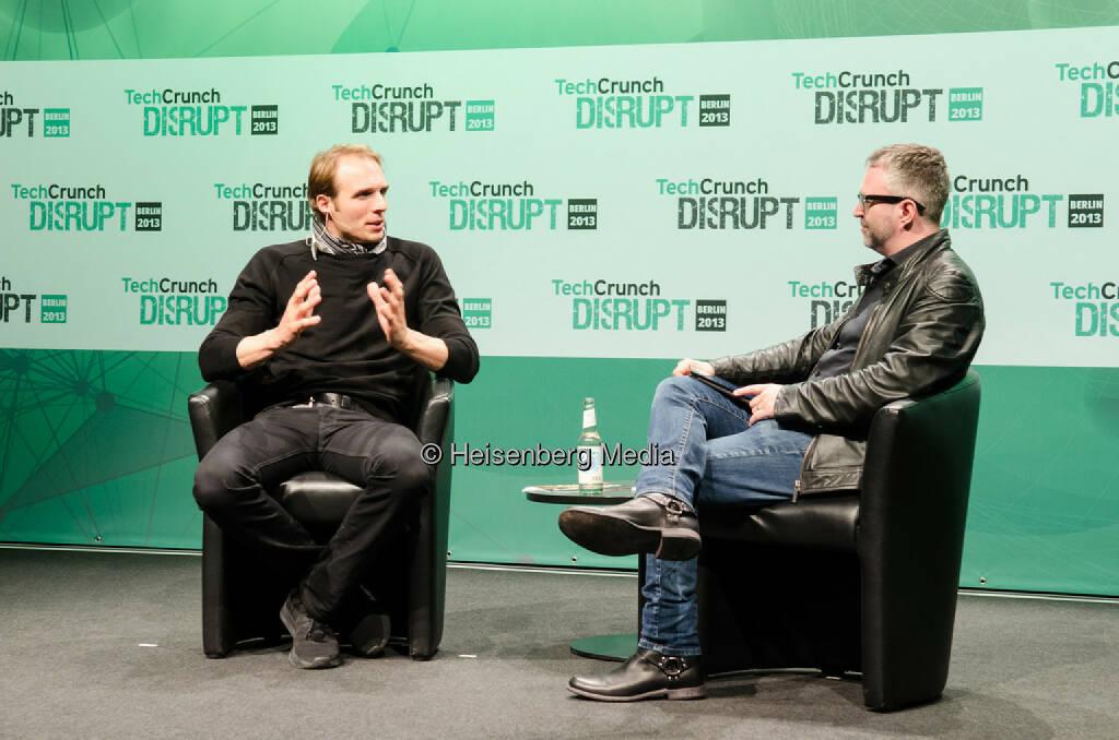Marc Samwer and Mike Butcher – TechCrunch Disrupt Europe – Berlin, Germany, October 28, 2013, © Heisenberg Media (05.01.2014)