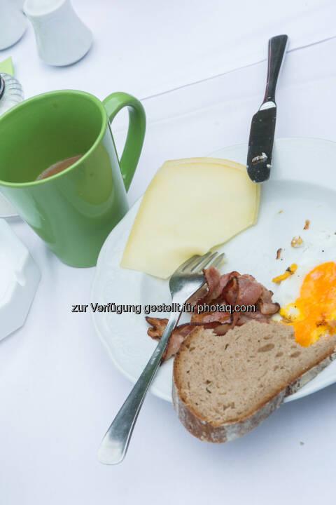 Frühstück, Käse, Speck, Ei, Kaffee