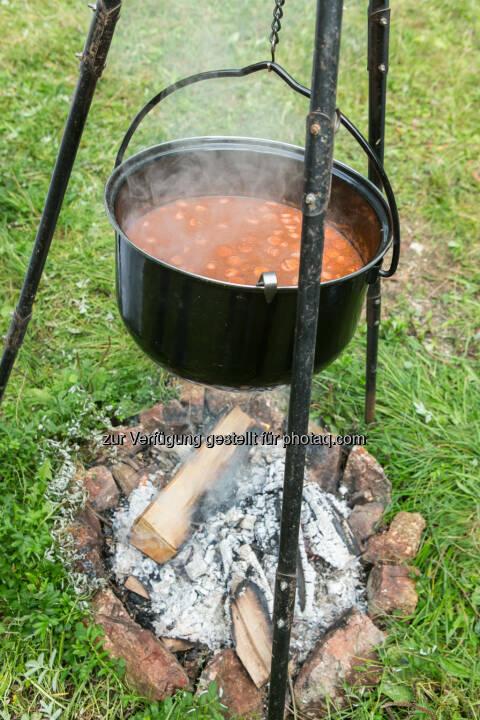 Gulasch, Kessel, Feuer, kochen, social