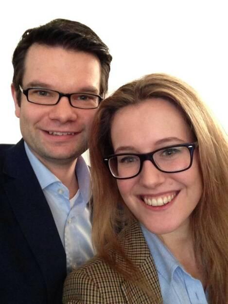 Claudia Gamon von den Neos und Marco Buschmann sprachen im Thomas-Dehler-Haus über die Nutzung von Social Media für die liberale Sache (11.01.2014)