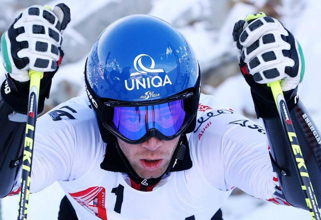 Uniqa / Benni Raich: Nach dem Riesentorlauf ist vor dem Slalom! Wir wünsche einen guten Rhythmus und den perfekten Schwung in Adelboden (12.01.2014)