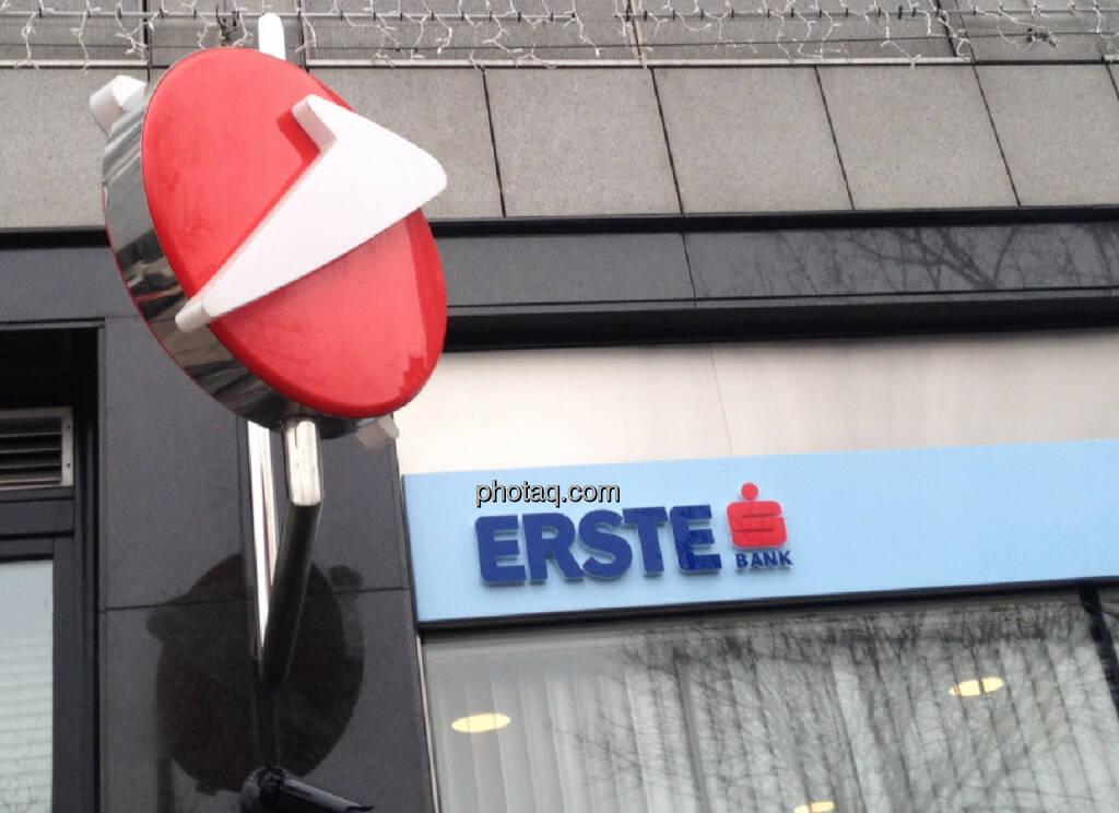 Bank Austria / Erste - das kann man wirklich Filialdichte in Wien nennen (13.01.2014)