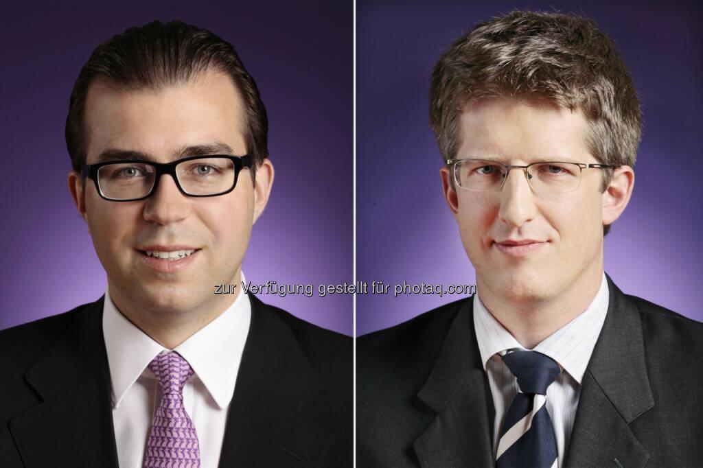 Clemens Philipp Schindler und Martin Abram (Wolf Theiss) haben das IT-Unternehmen RapidMiner beim Einstieg von Earlybird und Open Ocean Capital beraten (Bild: Wolf Theiss) (13.01.2014)