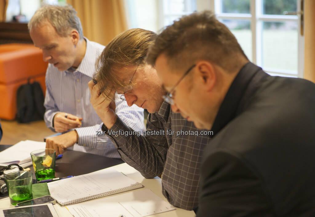 Christian Drastil (boerse-social.com), Andreas Neuherz (neo-lernhilfen.at), Martin Wohlmuth (Synercon Finanz- & Unternehmensberatung) , © Tripenta / Peinhaupt (13.01.2014)