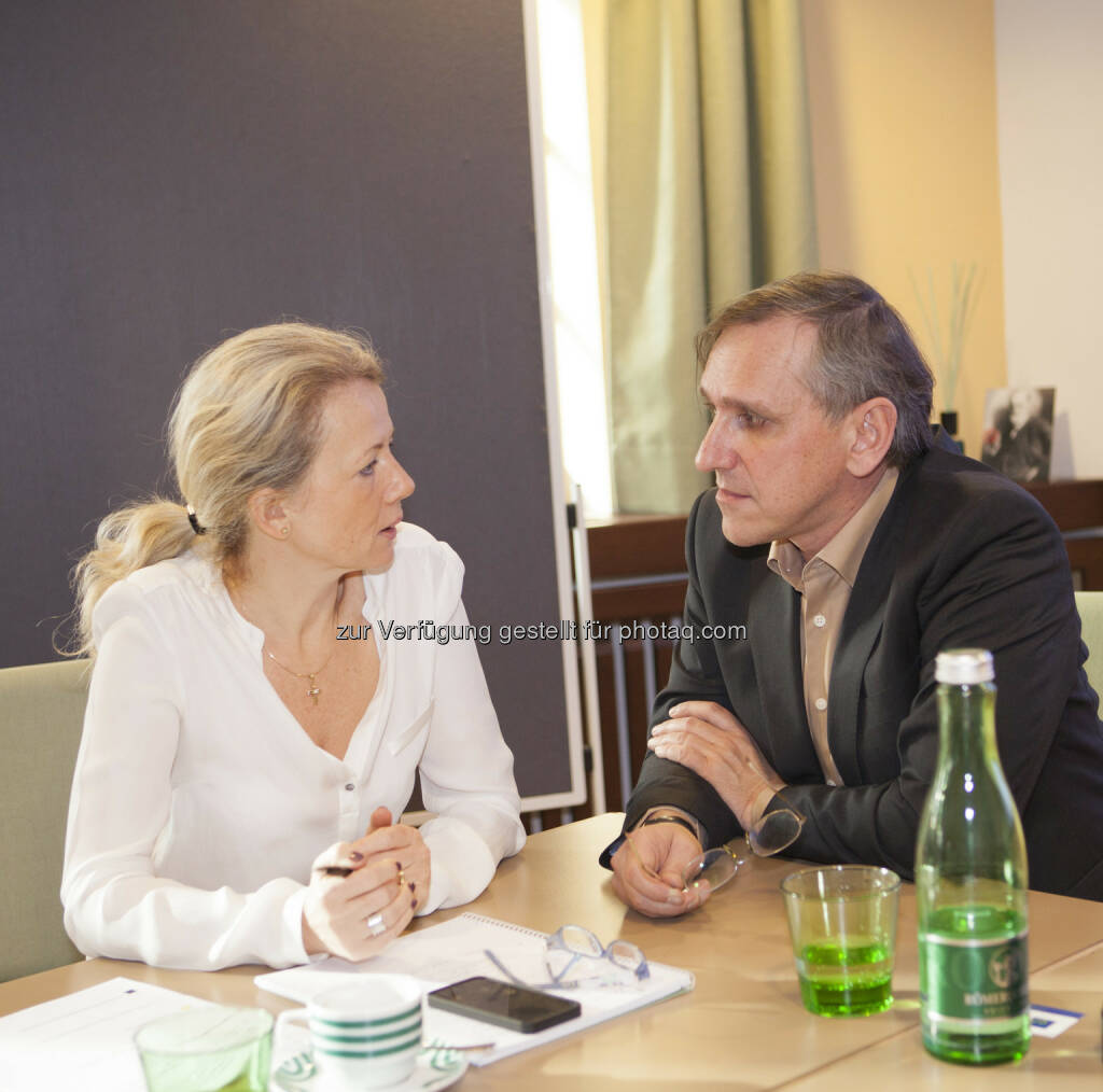 Daniela Grüneis (DT Trend), Klaus Peinhaupt (Tripenta), © Tripenta / Peinhaupt (13.01.2014)
