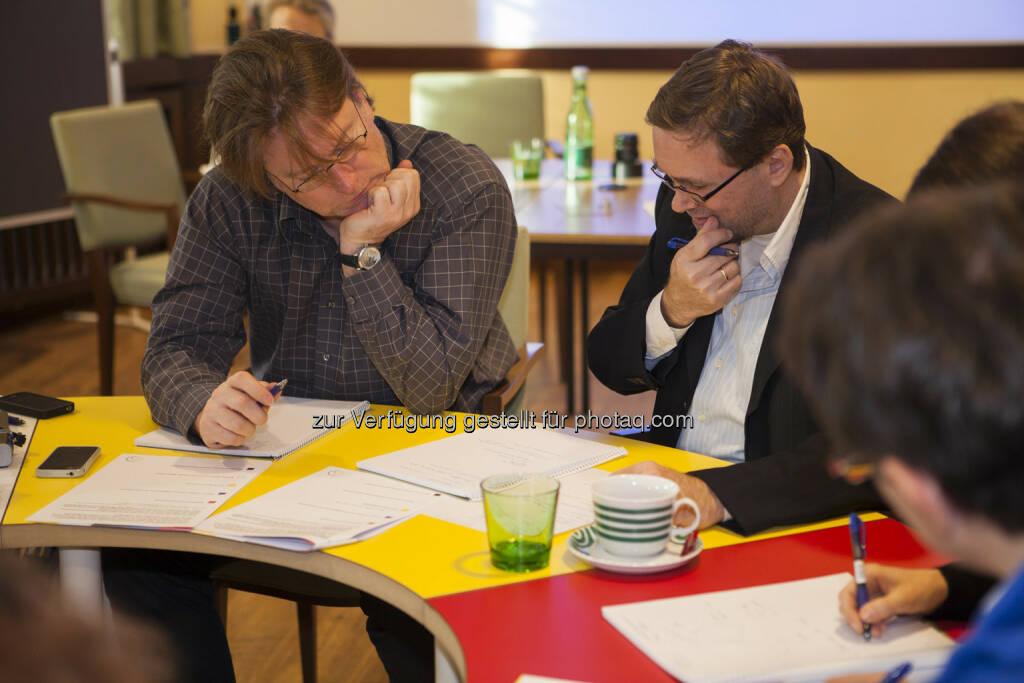 Andreas Neuherz (neo-lernhilfen.at), Rinaldo Wurglitsch (IQ Soft), © Tripenta / Peinhaupt (13.01.2014)
