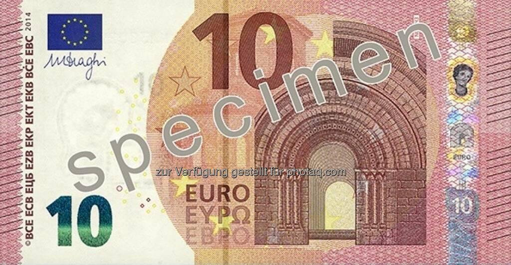 Die neue 10 Euro Note - Vorderseite - (Bild: OeNB) (14.01.2014)
