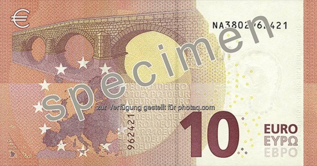 Die neue 10 Euro Note - Rückseite - (Bild: OeNB) (14.01.2014)