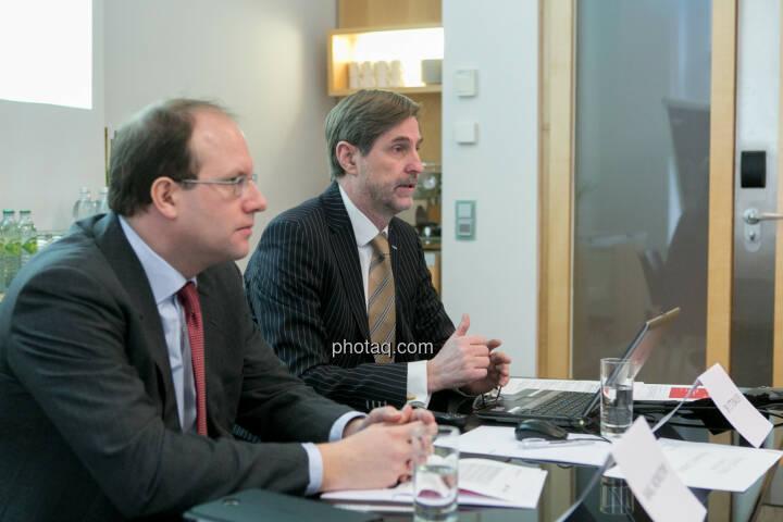 Florian Nowotny, Finanzvorstand der  CA Immo (CFO), Bruno Ettenauer, Vorstandsvorsitzender der CA Immo (CEO)