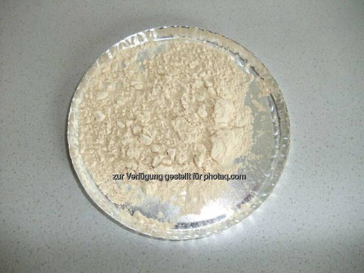 Aminosäurepulver Bioraffinerie: Aminosäuren aus der Grünen Bioraffinerie - gewonnen mittels patentierter Technologe (c) gruene-bioraffinerie.at GmbH