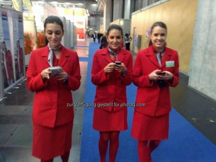 Ferien-Messe Wien - Austrian Airlines zum Thema Smart Phone, WLAN, Mobility, Flexibility... Das Bild bedarf eigentlich keiner Worte mehr (c) Lufthansa