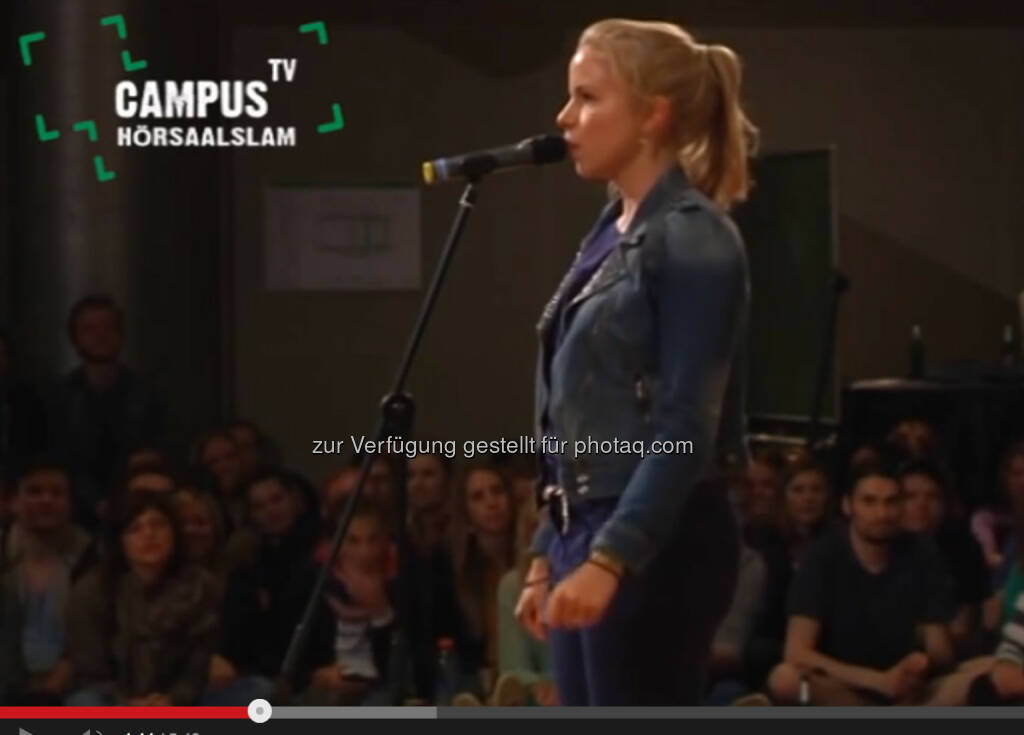 Hörsaal-Slammerin Julia Engelmann wird zum Medienhype - http://www.youtube.com/watch?v=DoxqZWvt7g8 (20.01.2014)