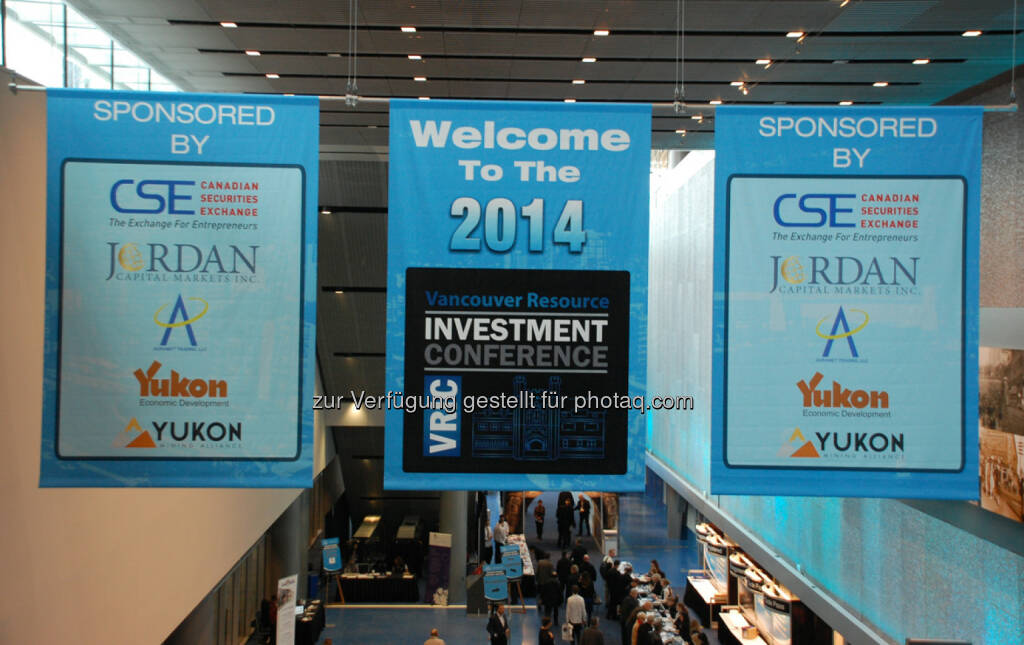 Entrance Banners at the 2014 Vancouver Resource Investment Conference, © Zimtu Capital Corp. (20.01.2014)