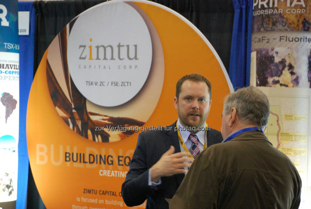 Sean Charland of Zimtu Capital Corp. at the 2014 Vancouver Resource Investment Conference, © Zimtu Capital Corp. (20.01.2014)