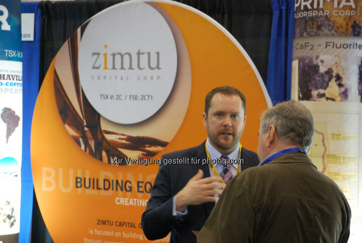 Sean Charland of Zimtu Capital Corp. at the 2014 Vancouver Resource Investment Conference