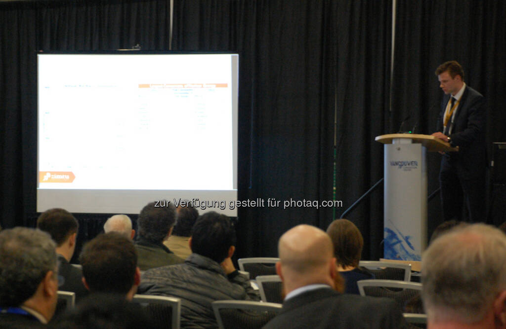 "Derek Hamill of Zimtu Capital Corp. Presents ""Canadian Uranium Exploration and the Athabasca Basin"" at the Vancouver Resource Investment Conference, © Zimtu Capital Corp. (20.01.2014)"